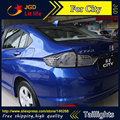 Стайлинга автомобилей задние фонари для Honda City 2014 2015 LED Задний Фонарь задний багажник крышка лампы drl + сигнал + тормоза + обратный