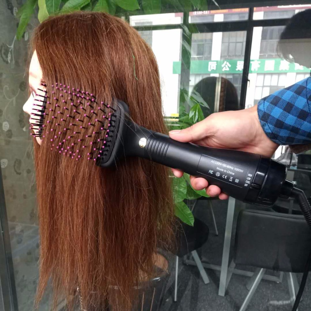 Professional Hair Dryer Brush Blower Straightener Comb Negative Air Curly Styler Sisir Straight Ionic Electric Hot Salon Blow Dry