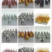 21PCS Medieval Crusader Rome Commander Soldiers Army Group Building Blocks Baby Toys
