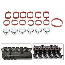 6 PCS 33mm Blanks Substituição Batoques com Ingestão de Aba Redemoinho Diesel Manifold Juntas para BMW 320d 520d 525d 530d 730d 330d E90 E91