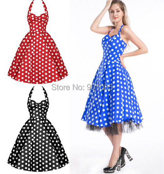 Popular 50's Polka Dot Dress-Buy Cheap 50's Polka Dot ...