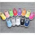 2016New venta Caliente Zapatos interior longitud 13 ~ 16.3 cm Niños Zapatos de bebé Zapatillas de deporte de los deportes de Los Muchachos zapatos de lona de las muchachas zapatos dulces de colores