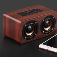 Portable Wireless Bluetooth Speakers Wooden Dual Passive Subwoofer Speaker LCC77