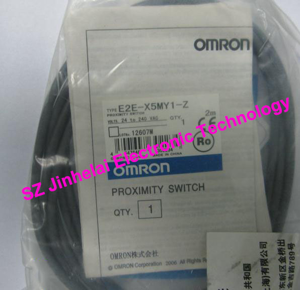 100% New and original  E2E-X5MY1-Z   OMRON  Proximity sensor,Proximity switch, 2M   24-240VAC e2ec c1r5d1 e2ec c3d1 new and original omron proximity sensor proximity switch 12 24vdc 2m