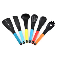 Creative colored nylon six piece kitchenware set kitchen heat resistant and scald cooking spoon shovel
