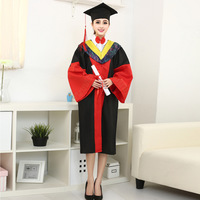 University Degree Gown Doctor's Dress Graduation Student Clothing School Uniform for Girls Unisex Doctoral Academic Dress Gown