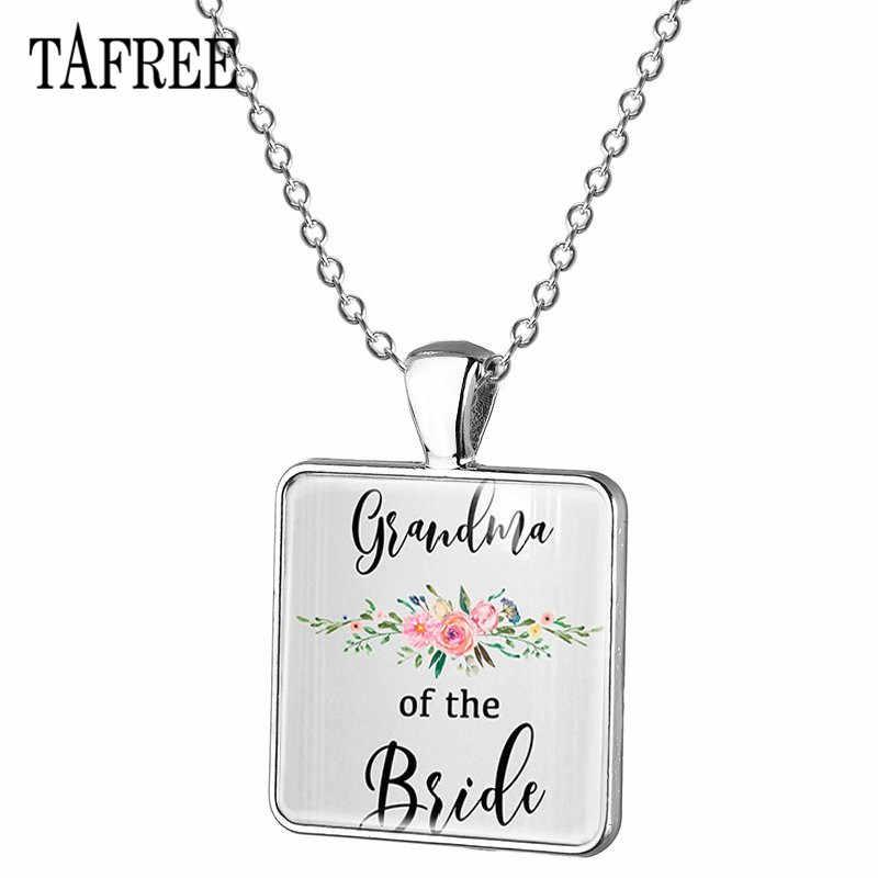 TAFREE พ่อ/แม่/น้องสาวเจ้าสาวเจ้าบ่าวจี้สร้อยคอจี้สร้อยคองานแต่งงานของขวัญเครื่องประดับ BW15