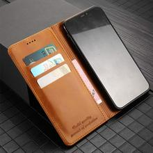 LANGSIDI Magnetic Case For Samsung Galaxy S10 plus Retro Wallet Leather lite Business Flip