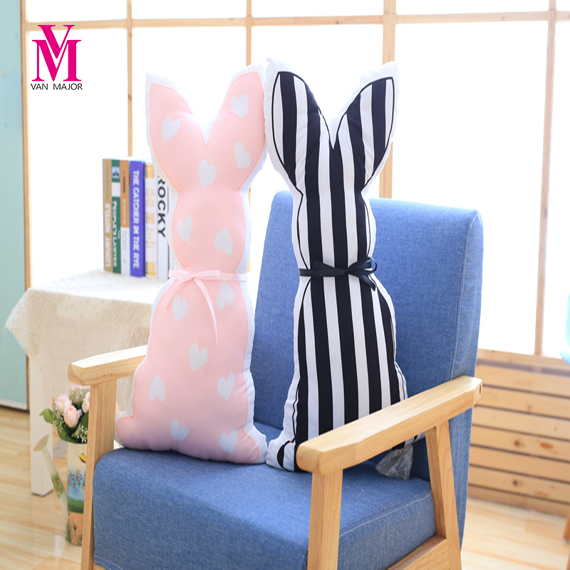 55cm Lovely Rabbit Plush Pillow Doll Toy Kids Calm Sleep Pillow Children Bed Decoration Appease Toy Photo Props Gift for Kids