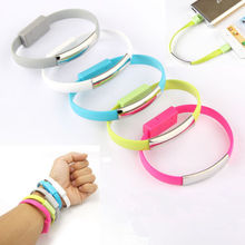Portable Noodle Usb Charger Cable Sync Data Bracelet Wrist Band Charger for Samsung Galaxy HTC LG Android system RF