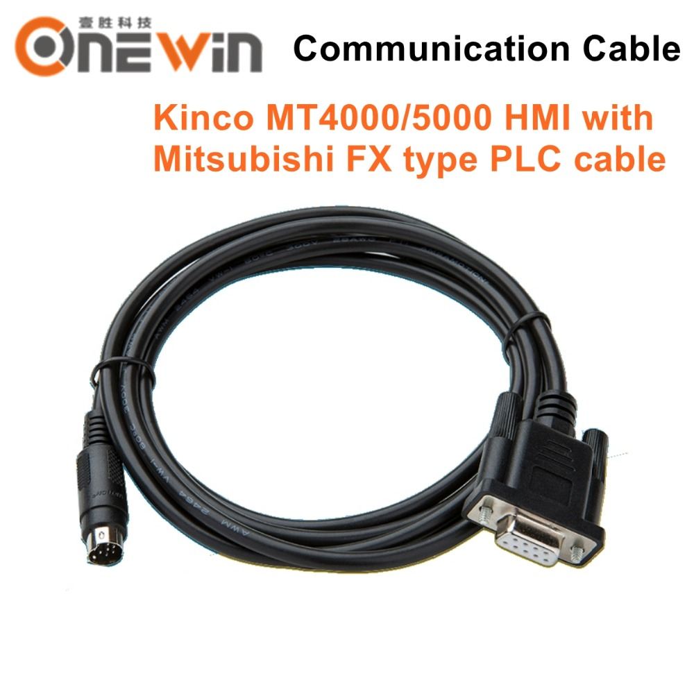Kinco MT4000/5000 HMI touch screen connect Mitsubishi FX model PLC cable  communication between the PLC and HMI