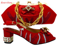 Italian Shoes With Matching Bags For Party African Shoes And Bags Set With High Quality