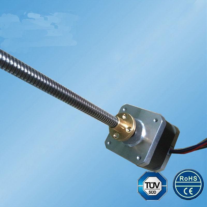 цена на 42MM screw motor TR8*4 4.33W 1.7 A 2 phase 1.8 degree 42SHD4231-280NK Hybrid stepping motor for 3D printer