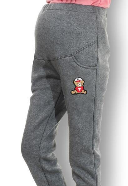 2015 горячих Женщин одежда одежда для беременных зима Леггинсы утолщенной с бархатными беременных женщин брюки теплые брюки