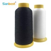 Sanbest 0,12 мм 6600 м прозрачная черная нейлоновая моноволокна прозрачная нить Невидимый стежок стеганые бусины нить для вышивки TH00001