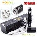 Pluma Vape cigarrillo electrónico kits de iniciación SUBTECH S30A 25 W 2200 mah batería cigarrillo electrónico con atomizador airflow control de M18 kits