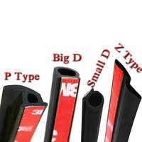 1M/lot Auto Interior Accessory Car Door Seal Strip Sticker Anti-Dust Soundproof Sealing Big D T Z P Type Noise Insulation Goods