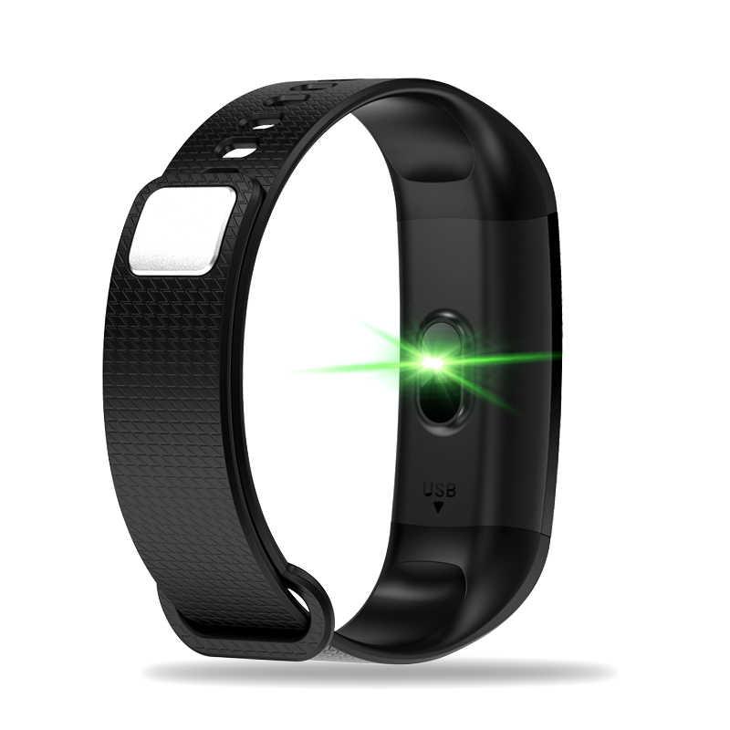 ליגע כושר נשים חכם שעון גברים Bluetooth קצב לב לחץ דם מד צעדים שעון LED ספורט חכם צמיד עבור אנדרואיד IOS