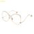 De gran tamaño de Lente Eyewear Del Marco Negro Gafas de Moda Ojo Marcos de Los Vidrios para Las Mujeres de Corea Claro Oro Gafas Graduadas Marco