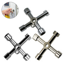 Zinc Alloy Silver Key Wrench Durable Repair Shop Screws Tools Doors Windows Water Meter Valve