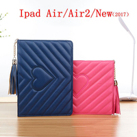 Smart Sleep Tassel Pendant Case For IPad New 2017 For IPad 2 3 4 Shell Protective