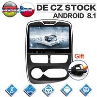 10,1 дюймов ips экран Android 8,1 Автомобильный gps навигатор dvd плеер для Renault Clio 2013 2016Octa Core 1024*600 1080 P видео FM блок