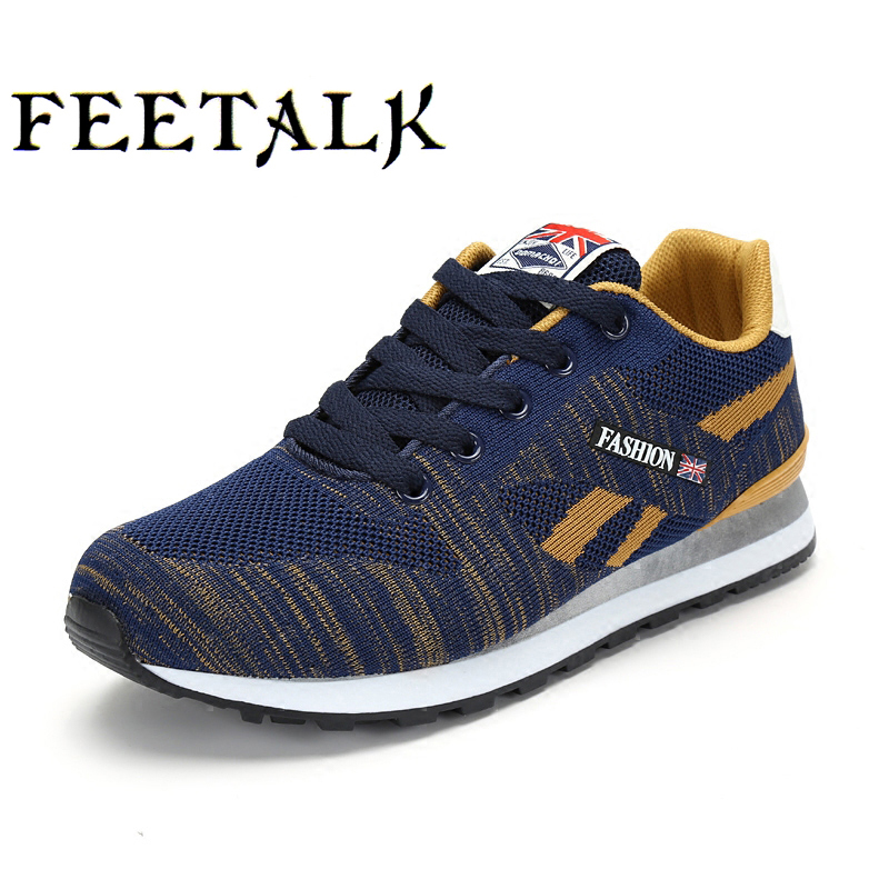 2017 Men Running Shoes High Quality Lace-Up Platform Sneakers Men Light Brand Trail Shoes #884 free shipping good and cheap