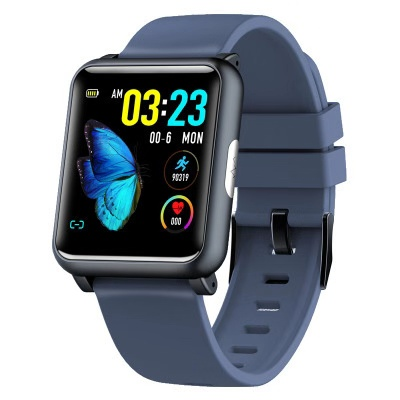 2019 New Heart Rate Monitor Smart Watch ECG PPG Square Smartwatch BOWANG H9 Health Care Index