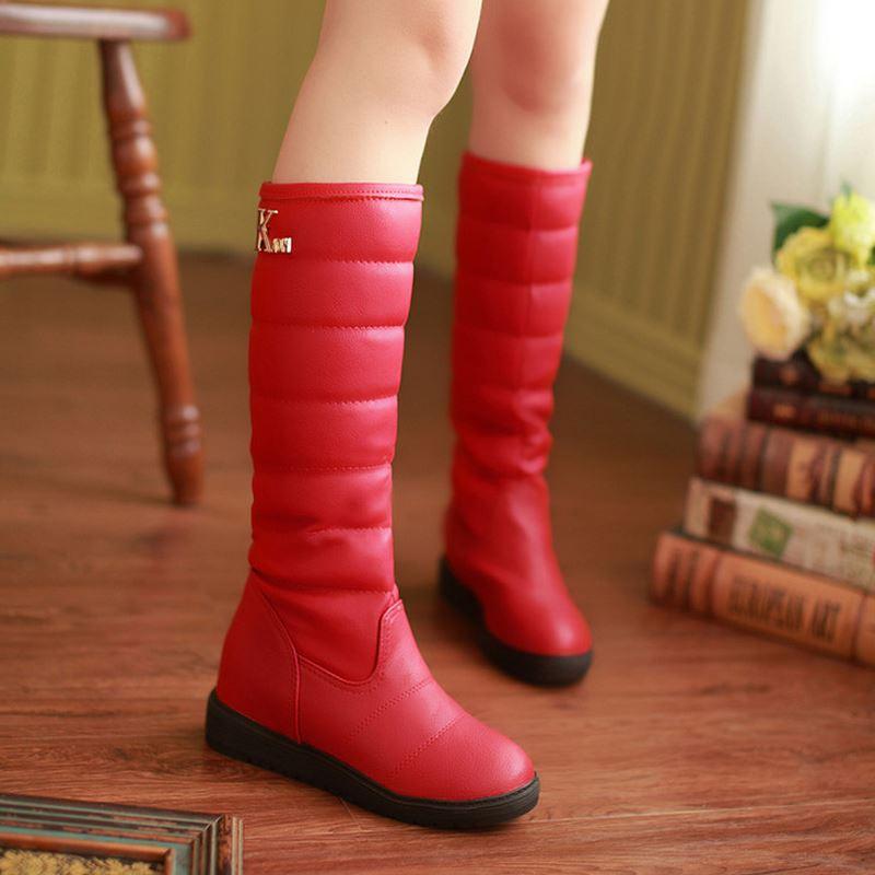 39 Botas rojo Señora Snow Kaizikarziwomen Cotton Planas Plataforma Negro Caliente Moda Medio Boot Invierno Corto Pantorrilla blanco Media Size34 Calzado awqFwUxpd