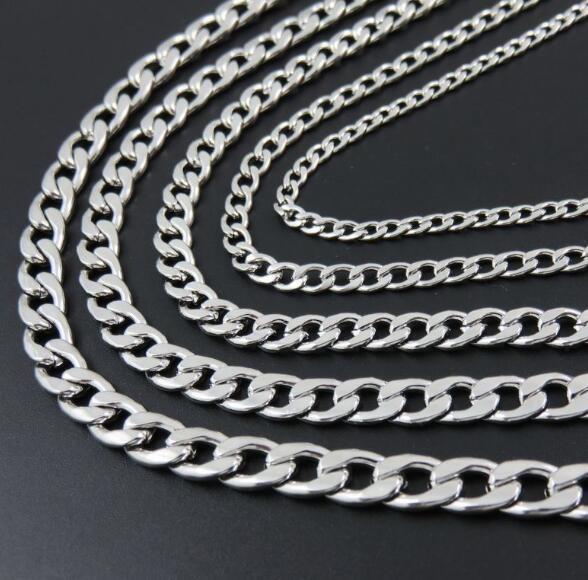 Lot 3 meters in bulk Stainless Steel 6mm Figaro Chain Link Jewelry finding DIY