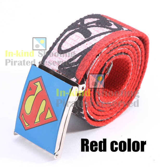 7af9184c1c5 Personality Superman Logo Design Fashion Printing Design Men s Leisure Wild  Smooth Buckle Thicker Canvas Belts