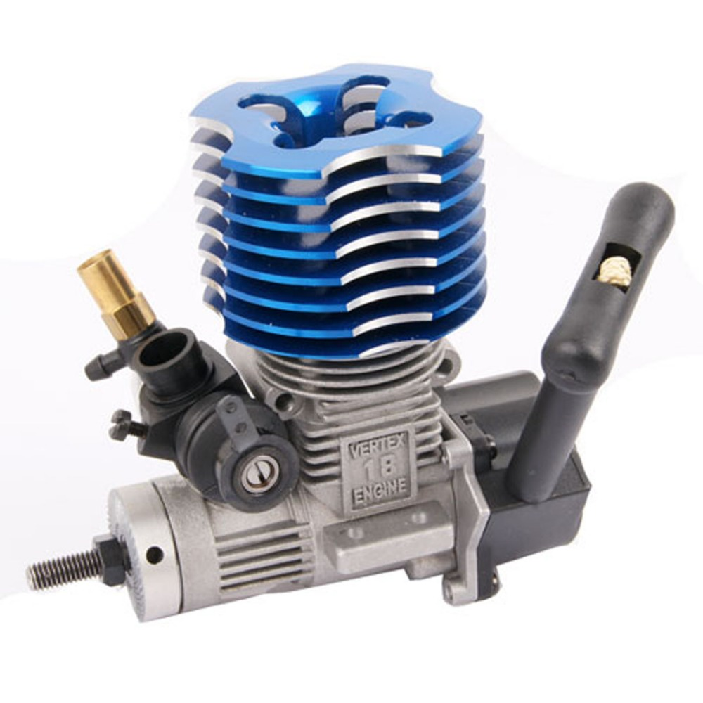 HSP 02060 BL VX 18 Engine 2.74cc Pull Starter for RC 1/10 Nitro Car Buggy EG630, Blue or Purple