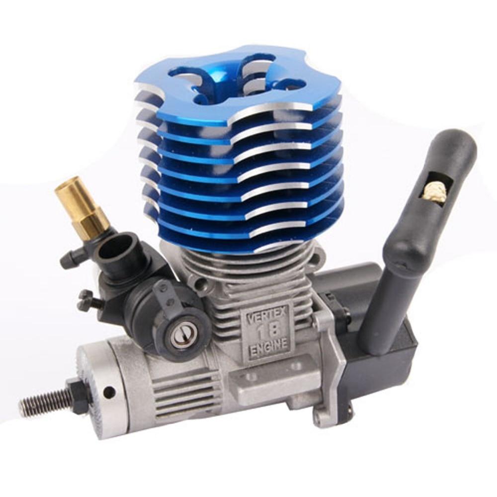 HSP 02060 BL VX 18 Engine 2.74cc Pull Starter for RC 1/10 Nitro Car Buggy EG630, Blue or Purple
