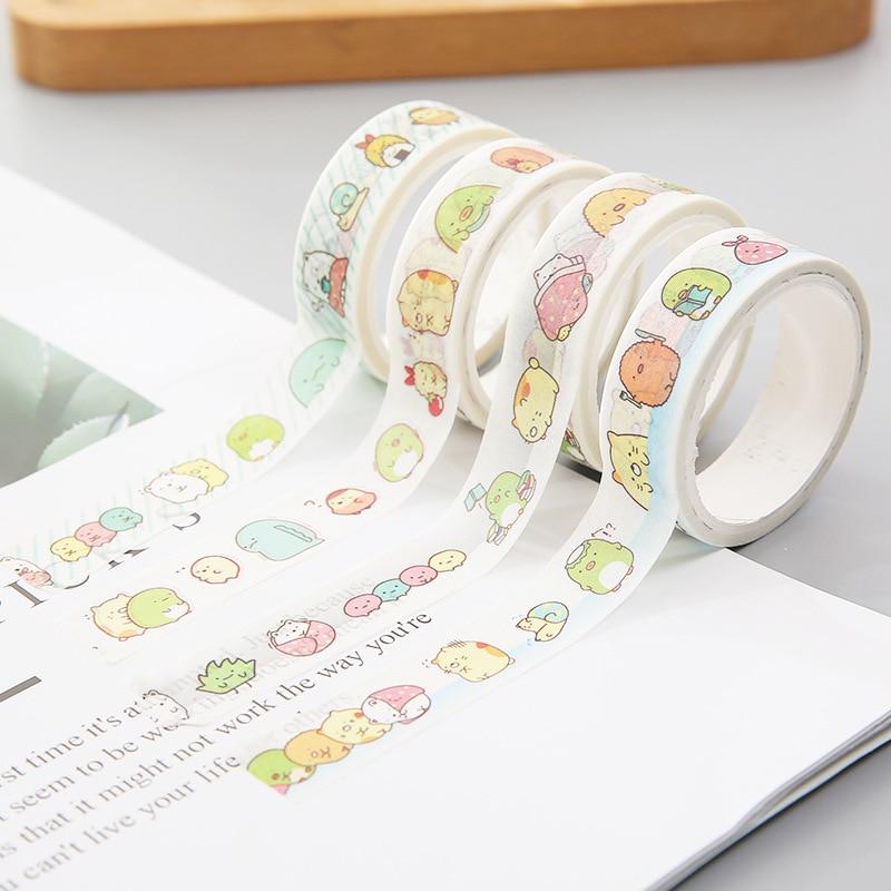 1.5cm*5m Kawaii Sumikko Gurashi Masking Tape Album Scrapbooking Decor Label Washi Tape