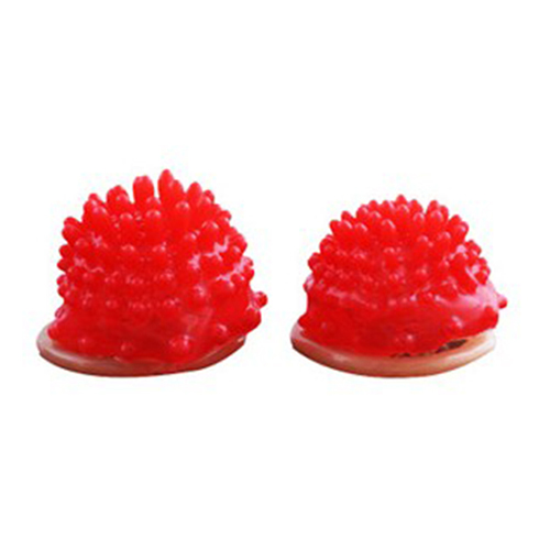 Red Silicone Head Ribbed Dotted Spike Latex Lubricated Condom Safer Sex Greater Pleasure for Men And Women