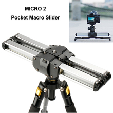 MICRO 2 Pocket Macro Slider Camera Track Video Rail Easylock Low Stand Macro Blacket Track Rail for Video Camera DSLR Camcorder polka dot ruffled longline t shirt