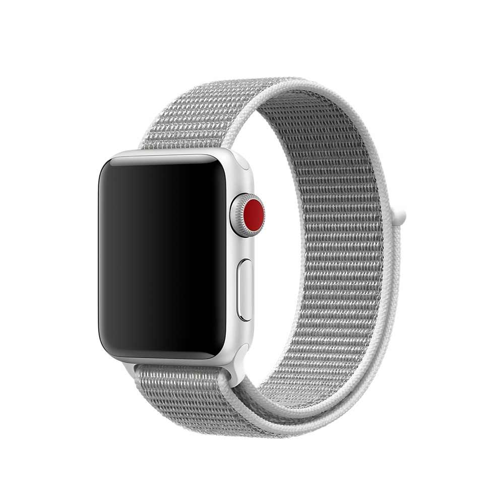 Correa deportiva ligera de Nylon transpirable 44mm 40mm para Apple Watch Series 5 4 3 2 1 42MM 38MM iWatch Correa deportiva