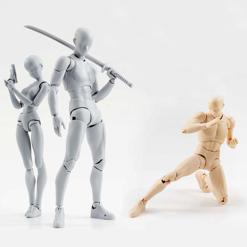 Cuerpo de alta calidad KUN/cuerpo CHAN BJD Color gris Ver. Figura de acción de PVC negro juguete coleccionable