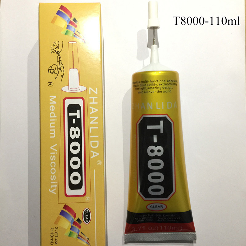 110ml MultiPurpose Liquid T8000 Super Glue T-8000 Strong Epoxy Resin Adhesive For Crystals Craft Rhinestone Phone Screen DIY 110ml multipurpose adhesive for leather wood rhinestone phone screen repair crystals liquid e8000 super glue strong diy craft