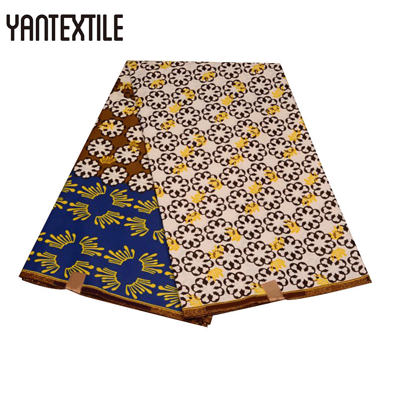 YANTEXTILE 2018 New Design Super Wax Hollandais 6 Yards Polyester Tissu Ankara African Wax Print Fabric Veritable Super Wax