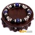 Lapis Lazuli & Black Obsidian & White Quartz  Natural Stone Bracelet Energy Jewelry Bracelets For Women Free For Gift Shipping