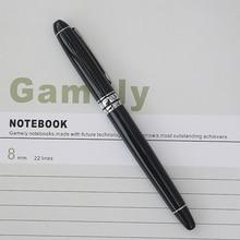 Дешевые Роскошные металлическая шариковая ручка H706 Бизнес офис Ролик Шариковая ручка студент гелевые ручки офиса отправить ручка сумки