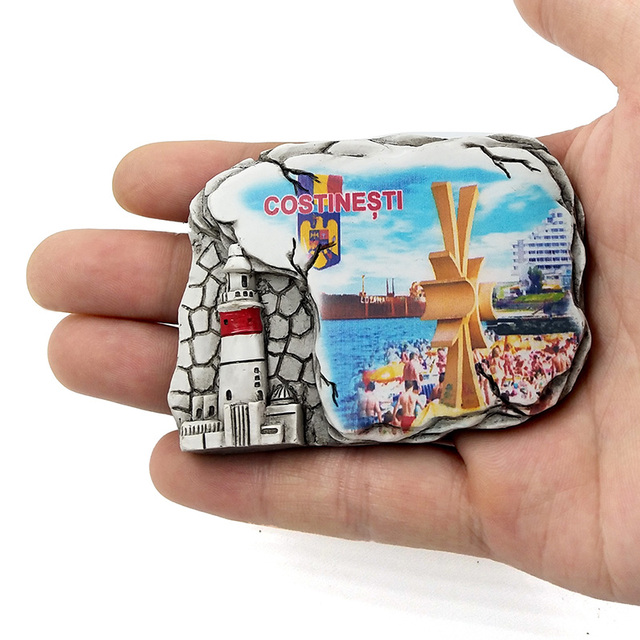 Aimants de réfrigérateur de voyage en résine   Aimant pour enfants, souvenir tourisme autocollant sur réfrigérateur, chiffres magnétiques de décoration de maison