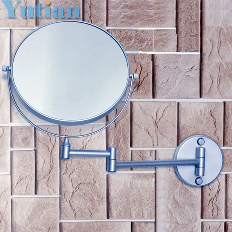 Free Shipping Hot sale wholesale fashionable bathroom in wall Aluminium make up mirror /8 shaving & cosmetic mirror,YT-9104 fashionable design hot sale bathroom makeup mirror multiple colors wall mounted