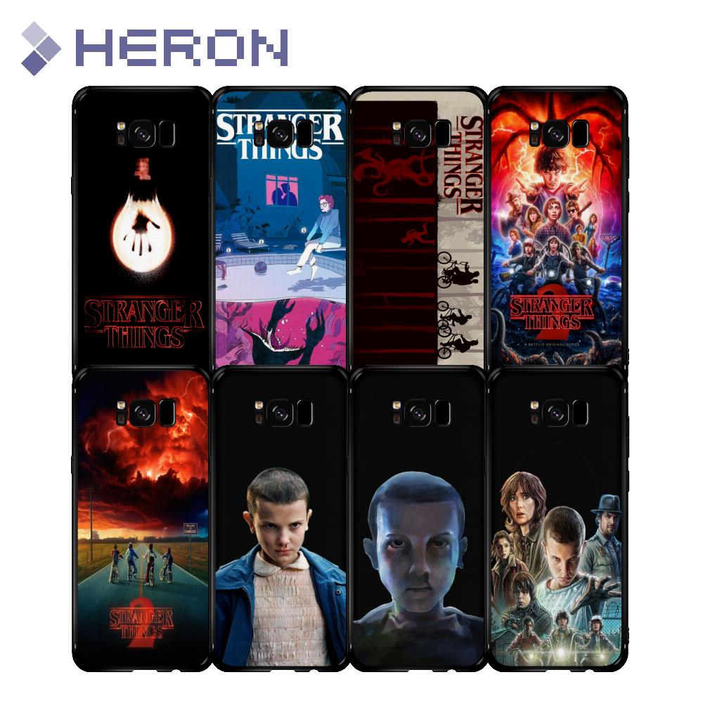 Stranger Things Matt Soft Case for Samasung Galaxy S6 S6E Edge Plus S8 Plus C10 J7 Max Stranger Thing Print Back Full Cover ...