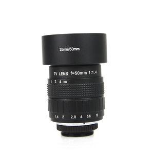 Image 4 - Объектив 50 мм F1.4 CC TV + C образное крепление + макро кольцо + бленда для Sony E образное крепление фотосессия A6300 A6100 A6000 A6500