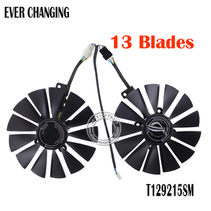 T129215SM DC12V 0.25AMP Graphics / Video Card Cooler Fan FOR ASUS STRIX RX570 4G GAMINGGraphics Card Cooling Fan(China)