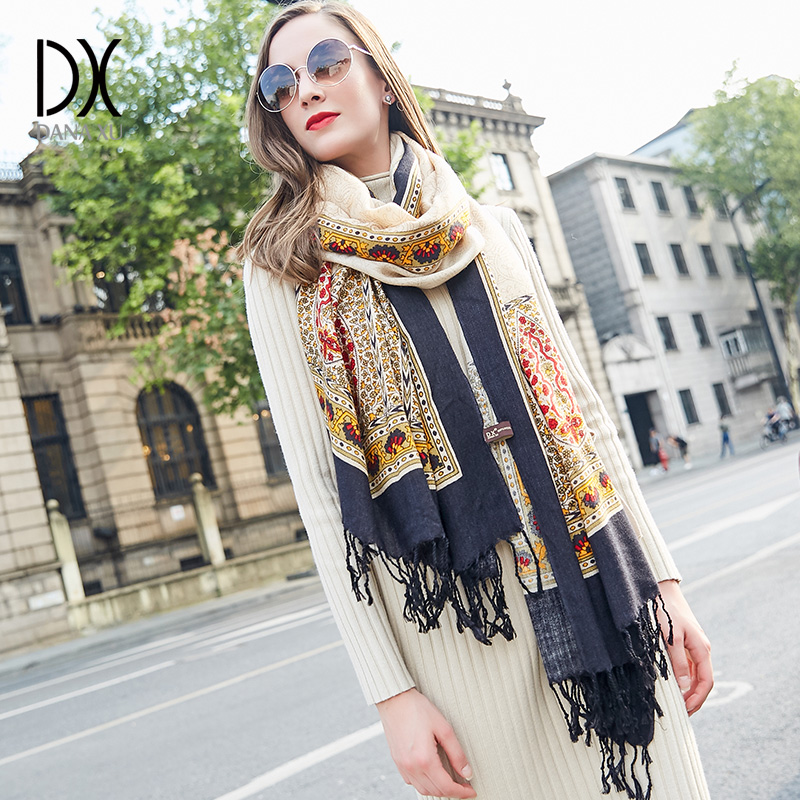 Wool Ladies Wool   Scarf   Shawl Printed New Arrival Solid Long   Scarves     Wraps   100% Pure Wool   Wraps   245*110cm Royal   Scarf   Pashmina