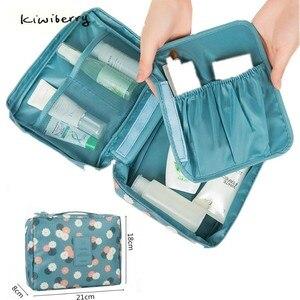 Image 1 - Mode voyage Nylon beauté maquillage sacs imperméable à leau cosmétiques sacs salle de bain organisateur de femmes Portable bain crochet lavage sac