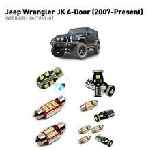 Led مصابيح داخلية ل جيب رانجلر jk 4 door 2007 + 4 قطعة Led أضواء للسيارات طقم الإضاءة لمبات السيارات Canbus